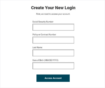 Step 4: Enter your social security number and select access account